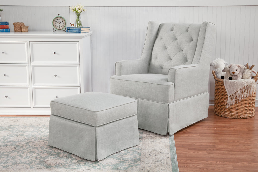 Miraculous Sadie Swivel Glider With Storage Ottoman Pabps2019 Chair Design Images Pabps2019Com