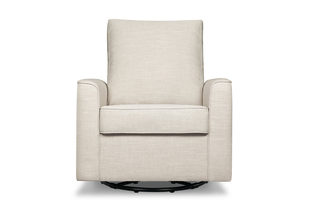 M17288LNWHT,Alden Swivel Glider in Wheat Linen