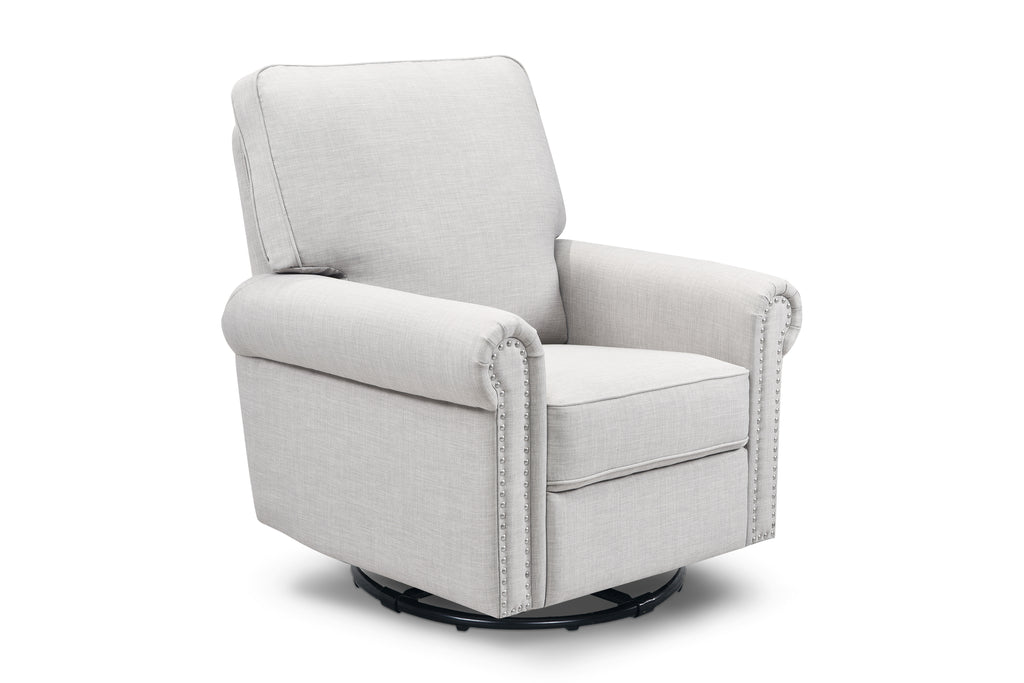 M19287FTLG,Linden Power Recliner in Light Grey Tweed