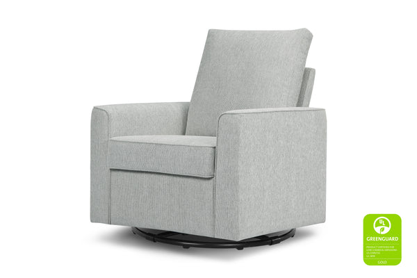 Alden Swivel Glider Greenguard certified by Million Dollar Baby Classic Light Grey Weave