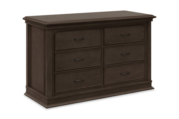 Million dollar baby classic Rhodes 6-drawer double wide dresser Brownstone