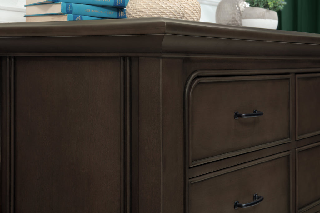M20416BS,Rhodes 6-Drawer Double Dresser in Brownstone