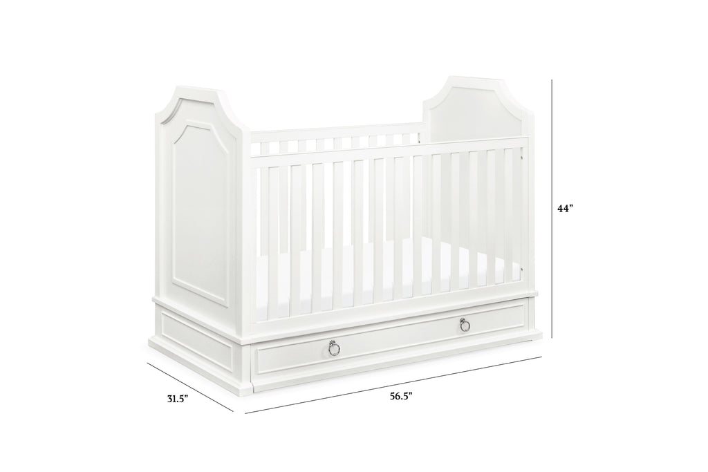 M10742RW,Emma Regency 3-in-1 Convertible Crib with Storage Trundle in Warm White