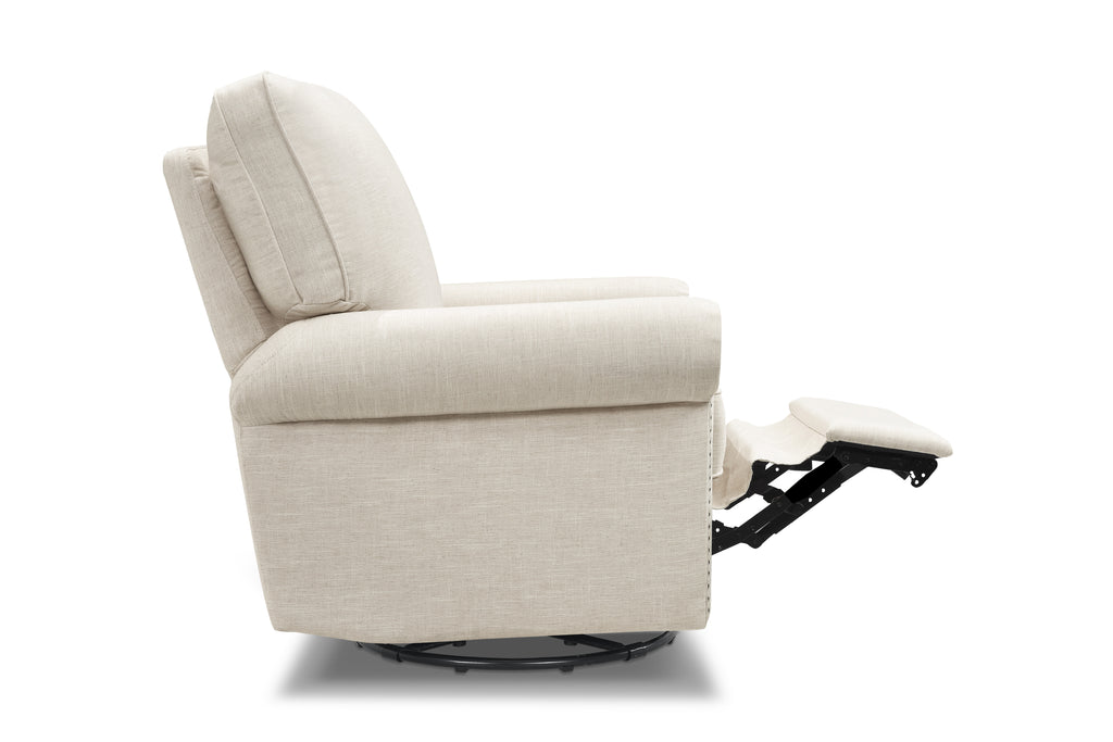 M19287LNWHT,Linden Power Recliner in White Linen