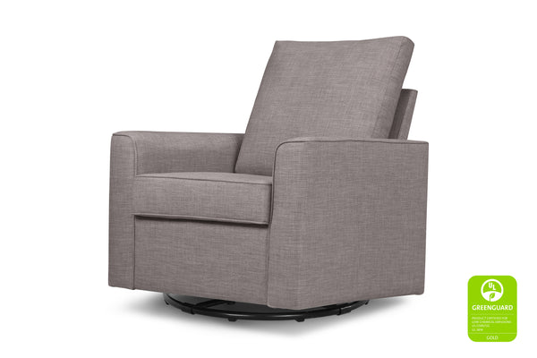 Alden Swivel Glider Greenguard certified by Million Dollar Baby Classic Grey Tweed