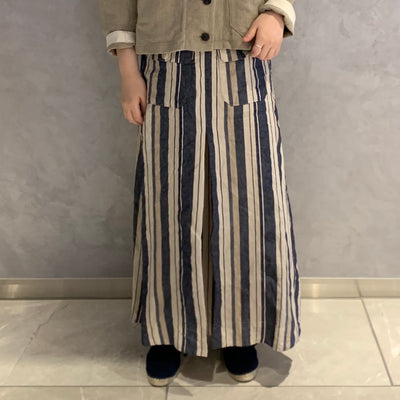 ワークスカート / WORK SKIRT - LINENSTRIPE