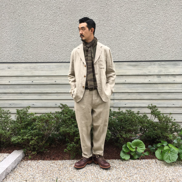 FRENCH LINEN HOSPITAL JACKET
