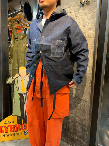 HOODED CHORE JACKET SPLIT-