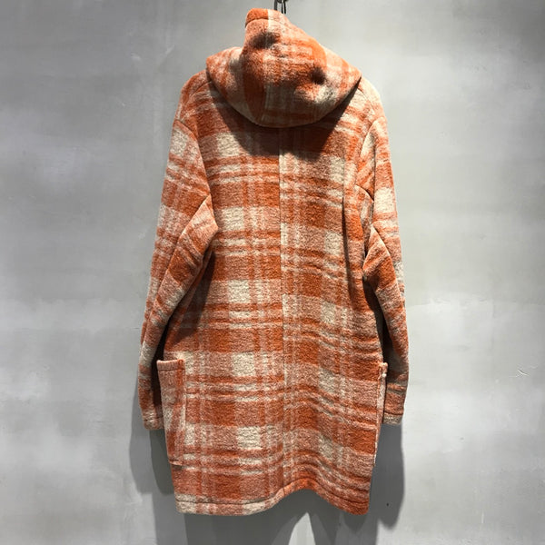 COAT,BLANKET,BLANKETCOAT,COTTON,WOOL,CHECK,コート,ブランケット