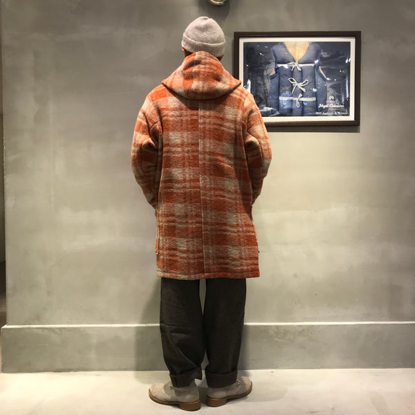 BLANKET,COAT,WOOLCOTTON,MILITARY,CHECK,ブランケット,コート