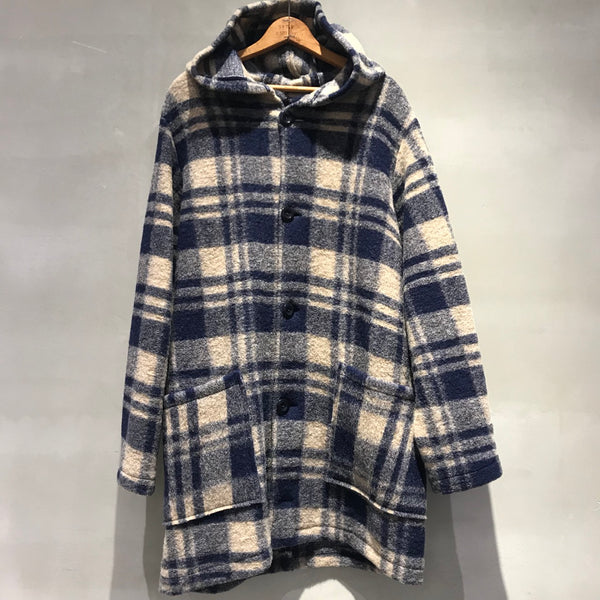 BLANKET JACKET,COAT,WOOLCOTTON,MILITARY,ブランケット,コート,チェック