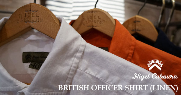 british officers shirt linen