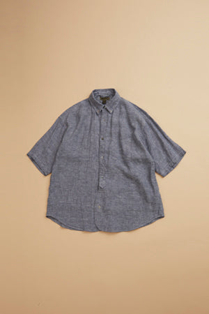 【SS19 MAN】ワイドシャツ/WIDE SHIRT - SORT SLEEVE - LINEN OXFORD