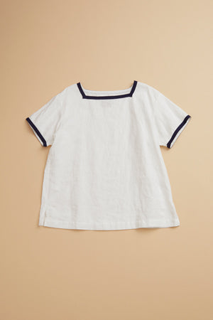 【SS19 WOMAN】セーラーシャツ/SAILOR SHIRT - LINEN