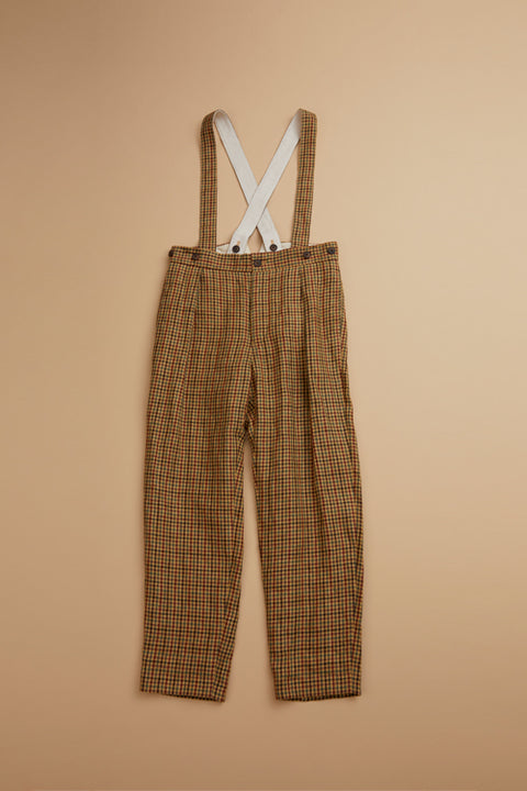 【SS19 WOMAN】 WORKWEAR PANT - LINEN OLD CHECK