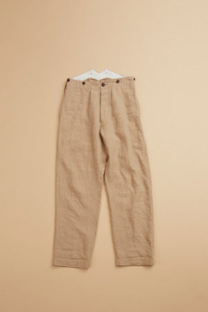 【SS19 WOMAN】 ベーシックパンツ / BASIC PANT-HIGH DENSITY LINEN