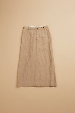 【SS19 WOMAN】ベーシックスカート/BASIC SKIRT - HIGH DENSITY LINEN