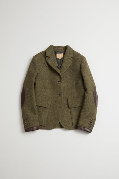 【AW20 WOMAN】ライディングジャケット/RIDING JACKET - WASHABLE TWEED -
