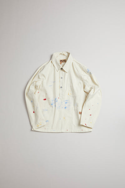 【AW19 MAN】ポーデッキシャツ / POH DECK SHIRT - PAINT SPLATTER