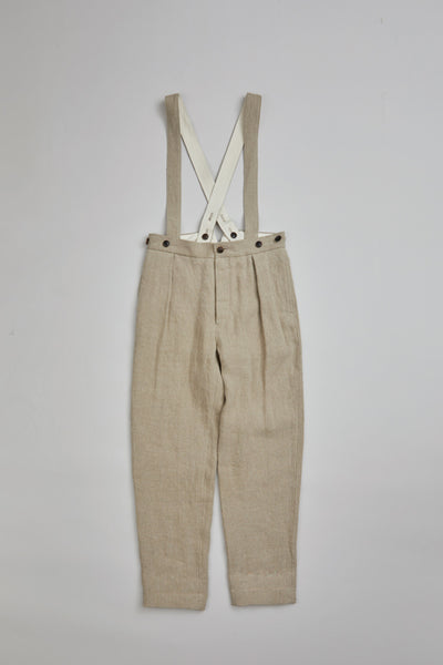 【SS20 WOMAN】ワークウェアパンツ / WORKWEAR PANT - FRENCH LINEN