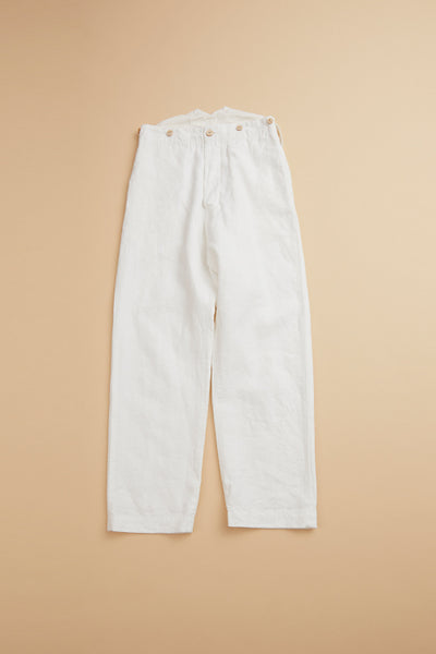 【SS20 WOMAN】 フレンチワークパンツ / FRENCH WORK PANT-HIGH DENSITY LINEN