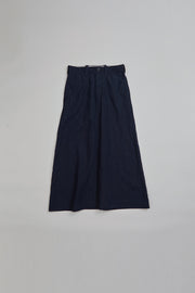 【SS20 WOMAN】ワークトラぺゾイドスカート / WORK TRAPEZID SKIRT - HIGH DENSITY LINEN