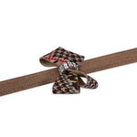 Susan Lanci Design - lead, chocolate houndstooth nouveau bow with Swarovski crystal - TiaraPooches.Com