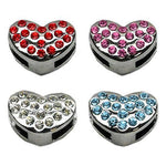 Diamante heart charm for customisable collars 10mm - TiaraPooches.Com