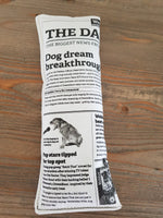 Limited edition 'Doggie Daily Newspaper' sensory toy