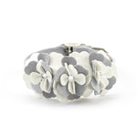 Susan Lanci Design - 'Tinkie Flowers' collar in platinum and white