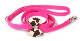 Susan Lanci Design - Windsor check nouveau bow lead with Swarovski