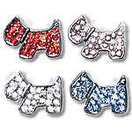 Diamante dog charm for customisable collars 10mm