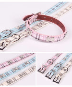 Furberry checked dog collar in preppy pink - TiaraPooches.Com