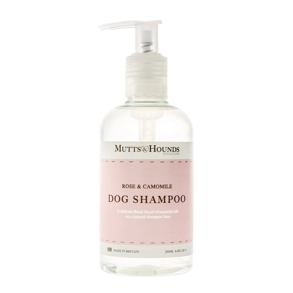 Mutts and Hound natural dog shampoo- Rose and camomile - TiaraPooches.Com