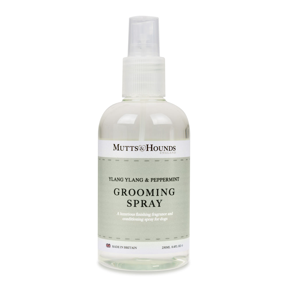 Mutts and Hound natural dog grooming spray -  Ylang ylang and peppermint - TiaraPooches.Com