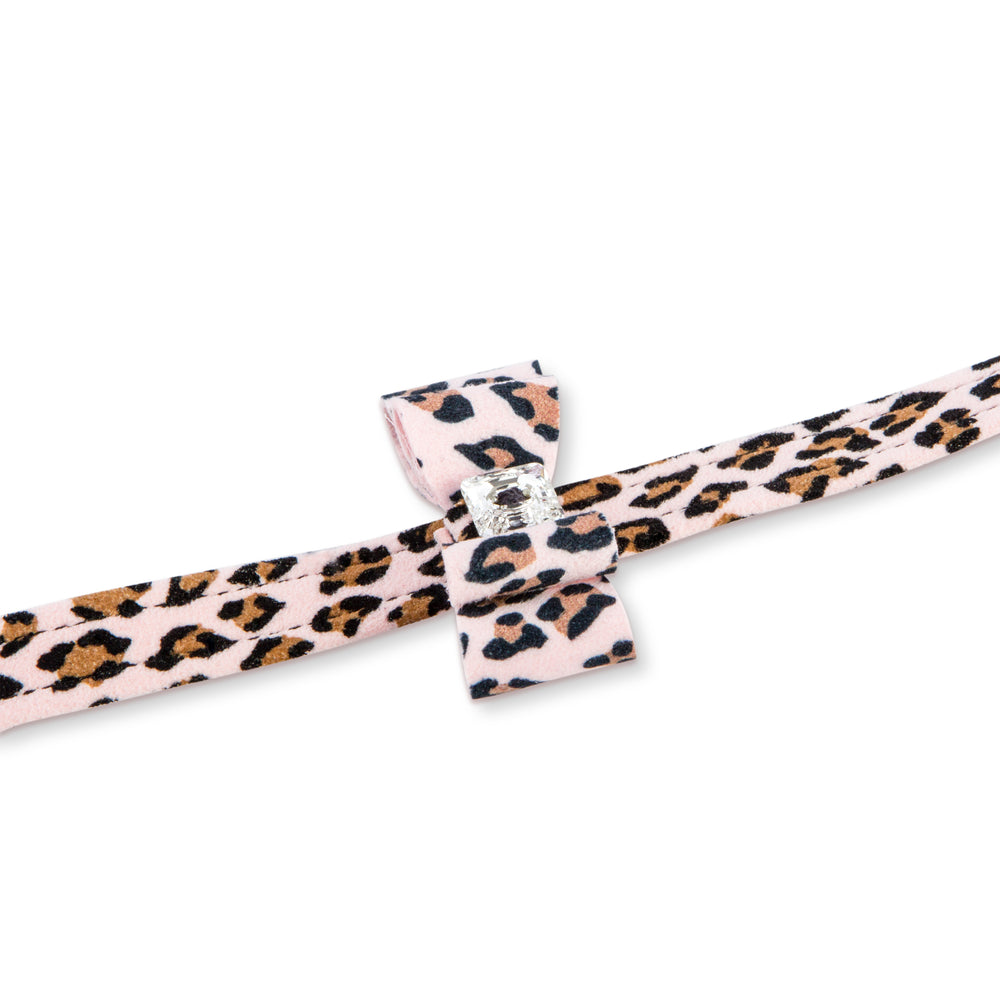 Susan Lanci Design 'cheetah couture' big bow lead - TiaraPooches.Com