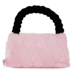 Vanderpump pets plush faux fur designer toy handbag- pink and black - TiaraPooches.Com