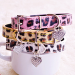 Fur Illusion dog collar in pink leopard print - TiaraPooches.Com
