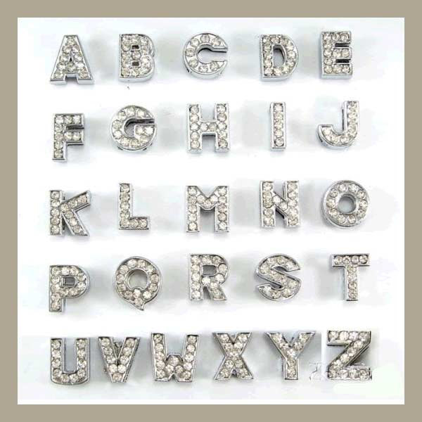 A-Z Diamante letters for customisable collars - TiaraPooches.Com