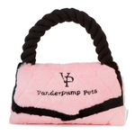 Vanderpump pets plush faux fur designer toy handbag- pink and black