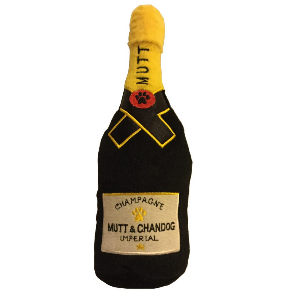Mutt & Chandog Imperial Champagne plush dog toy