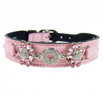 Hartman & Rose haute couture Daisy collar - sweet pink - TiaraPooches.Com