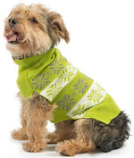 Muddy Paws Nordic Dog Sweater/Jumper -Lime Green - TiaraPooches.Com