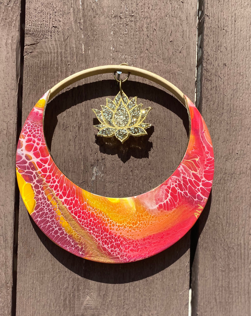 Moon Ring Art-6 inches