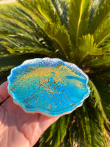 Resin Art Coaster-a round geode design
