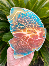 Resin art coaster-butterfly wing 🦋