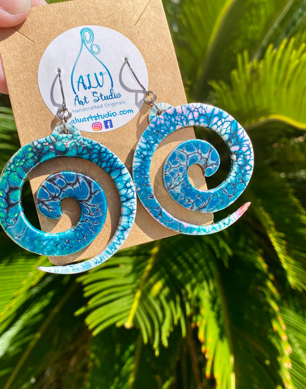 Earrings - Tribal Swirl 🌀