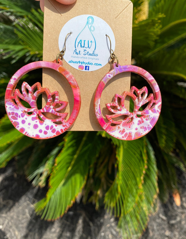 Earrings - Boho Lotus  💜