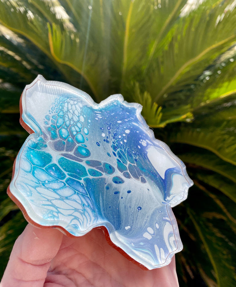 Resin art coaster-hibiscus flower 🌺