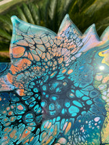 Resin Art Lotus Tray -10 inches